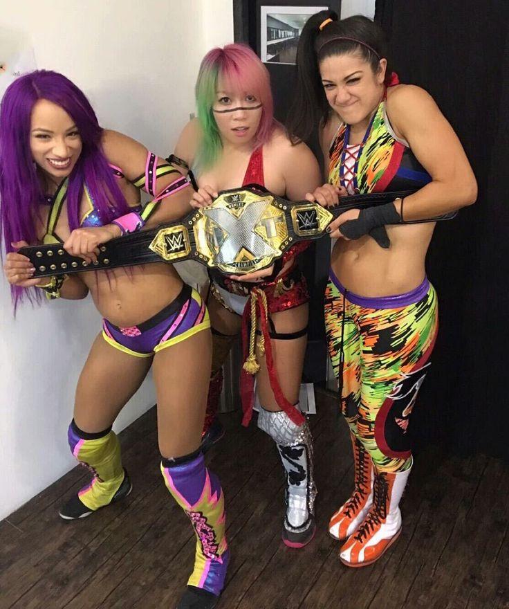 The gorgeous wwe nxt champion aksana and fabulous Bayley and Sasha Banks
