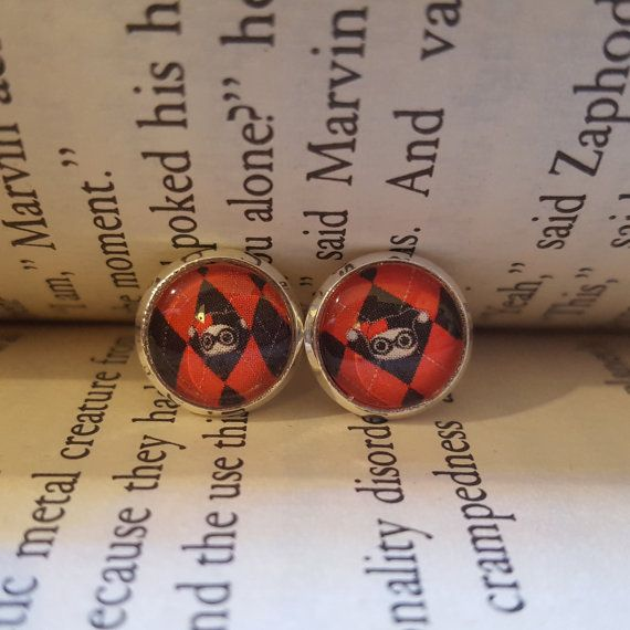 Harley Quinn Earrings by Flux42 on Etsy