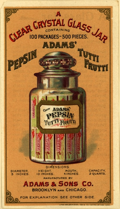 This would be cute on a mason jar with candy inside.  Could be a gift idea. Vintage advertisement