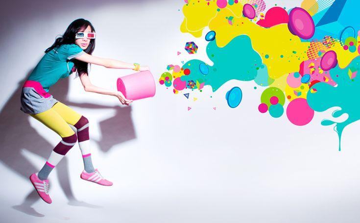 Just a splash of color.: Splash Of Colors, Colors Inspiration, Eye