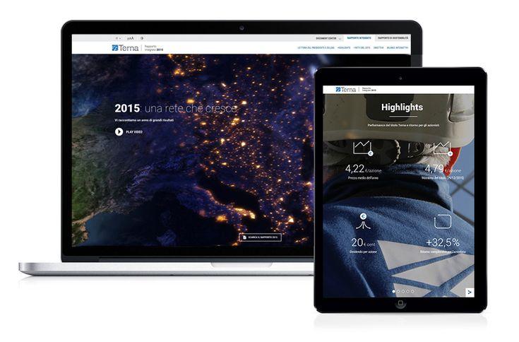 Revamp per Gruppo Terna! Brillano le reti dell'energia nella versione interattiva del Rapporto Integrato Finance e Sostenibilità 2015.