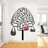 Kulmikas puu - seinätarra | Sisustustarrat ja seinätarrat - Dr. Decor