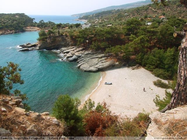 thassos aliki beach, region of Macedonia in northern Greece