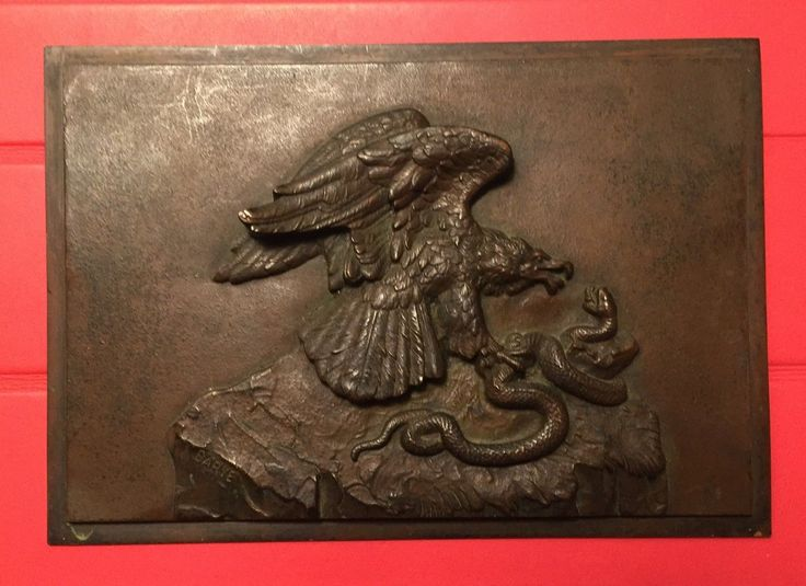 Victorian Antique Barye Bronze Plaque Eagle and Serpent Snake French Signed | eBay