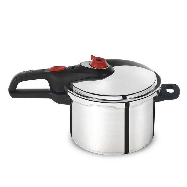 T-Fal 6 Qt Aluminum Pressure Cooker, Silver