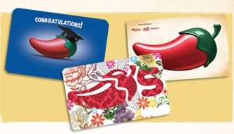 Chilis giftcard (and other restaurants we have here)