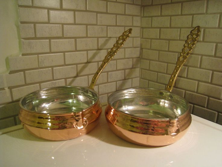 Turkish Traditional Handmade Saucepan Cezve With Brass Handle Ibrik Pot Cookware #handmadecuisine