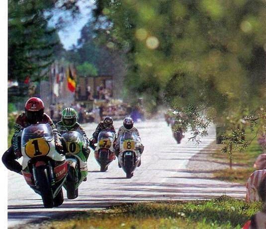 Imatra (FIN) 1981 Kenny ROBERTS - Kork BALLINGTON - Jack MIDDELBURG - Barry SHEENE.