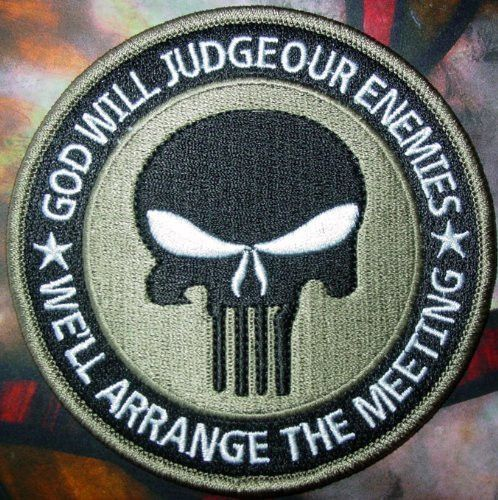 Special Forces Black Punisher Seal ODA Navy Patch(khaki) 4x4 inches