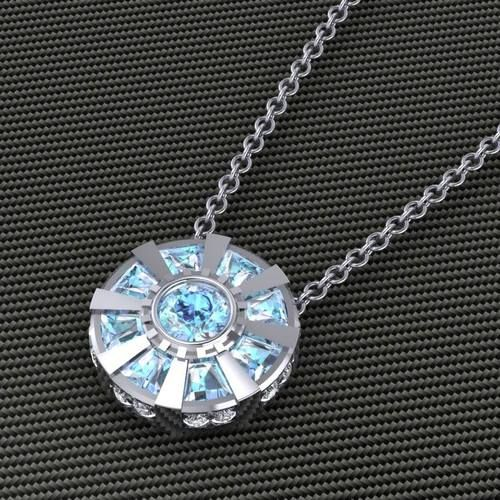 jewelry disney robert downey jr nerd iron man tony stark superheroes avengers geek Iron Man 3 mcu marvel cinematic universe arc reactor paul michael design