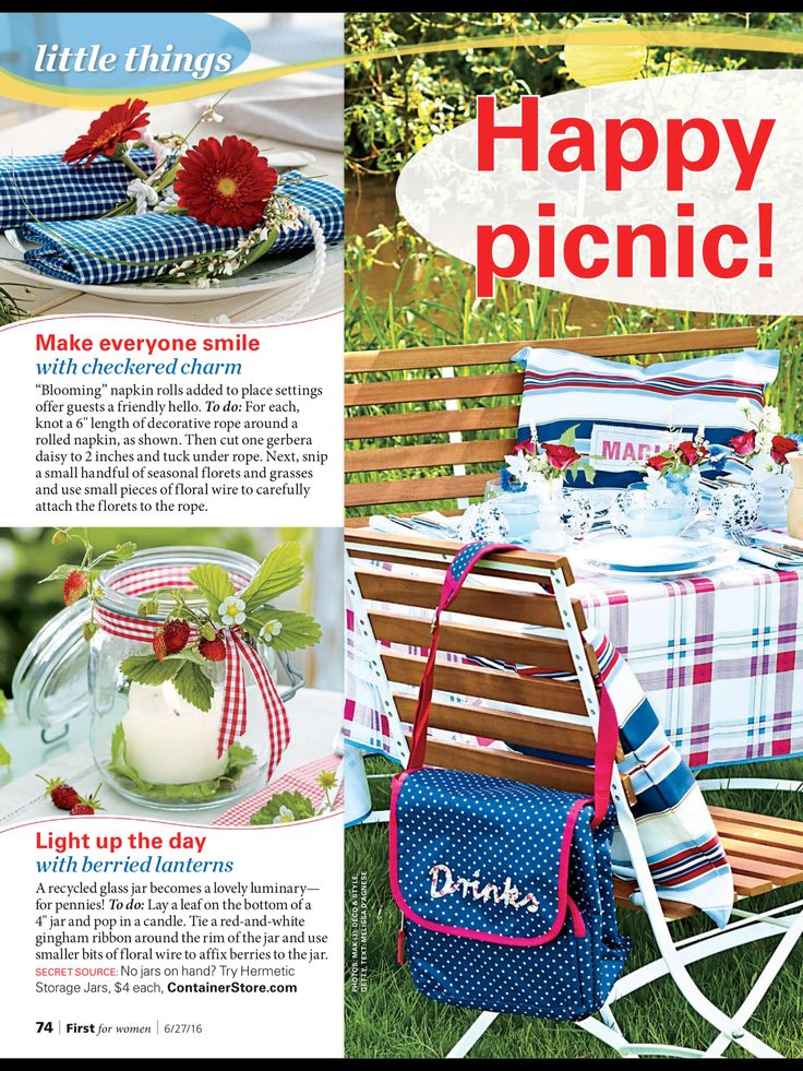 """""""Happy 4th backyard picnic"""" from First for Women, June 27, 2016. Read it on the Texture app-unlimited access to 200+ top magazines."""