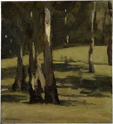 MAX MELDRUM Shadows, Landscape with Trees (c.1925)