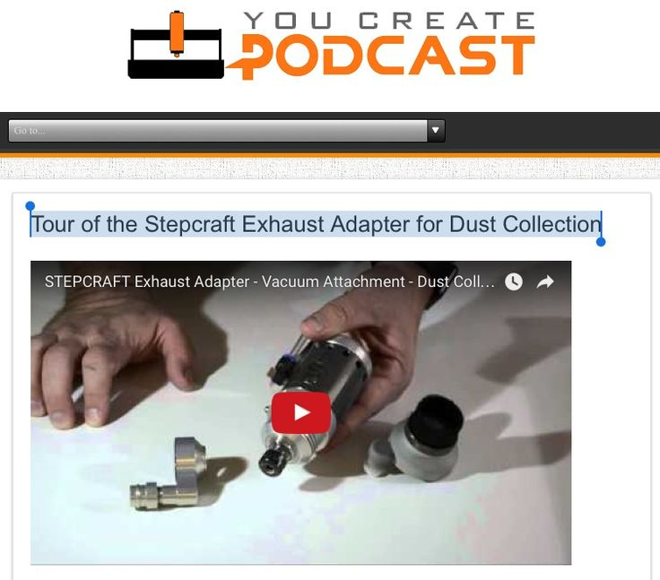 8 best 4th axis rotary on stepcraft images on pinterest rotary tour of the stepcraft exhaust adapter for dust collection httpyoucreatepodcast fandeluxe Gallery