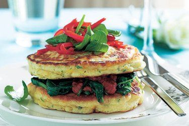 Corn and feta buttermilk pancakes recipe, NZ Woman's Weekly – visit Food Hub for New Zealand recipes using local ingredients – foodhub.co.nz