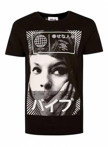 Prezzi e Sconti: #Okuh black and white global print t-shirt misure Smlxl  ad Euro 48.00 in #Topman #Clothing mens tops