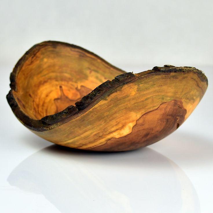 Miska z korą, jabłoń. Apfelbaum / Apple tree #donitza, #toczenie, #woodturning
