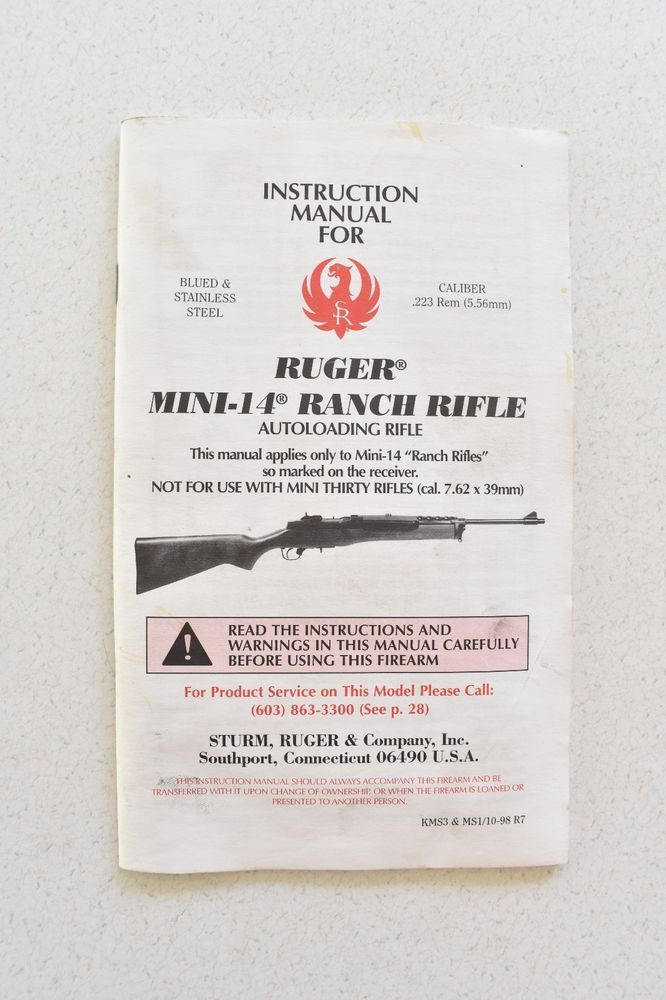 manual ruger mini 14 ranch rifle 10 98 instructions autoloading rh pinterest com Ruger Ranch Rifle 308 ruger mini 14 ranch rifle manual