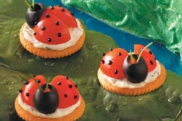 Possible first birthday theme - ladybugs.  Great food idea