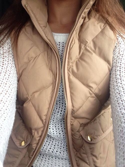 Neutral sweater and vest