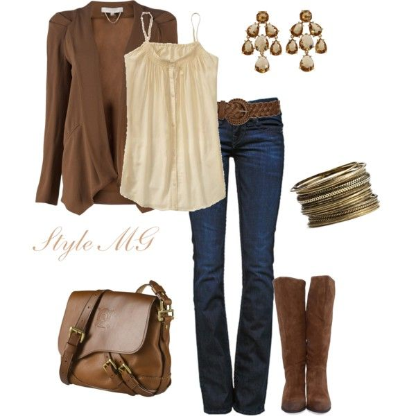 Cute fall outfit.