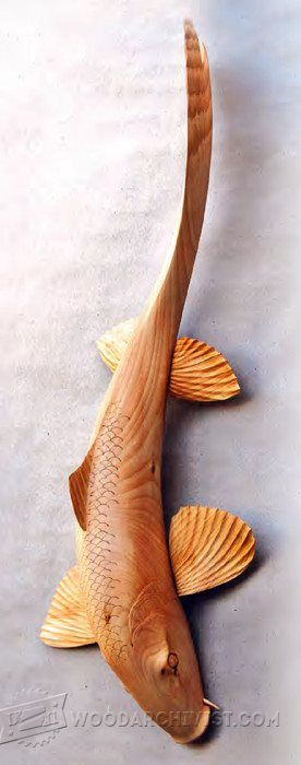 Carving Koi Carp - Wood Carving Patterns and Techniques   WoodArchivist.com