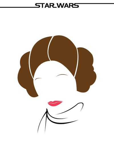 Princess Leia / Minimalist posters of characters from the iconic film saga, Star Wars.