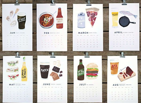 The Beer/Food Calendar Gives Suggestions for Perfect Pairings #calendar trendhunter.com
