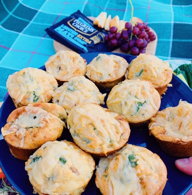 Picnic muffins with cheese and vegetables   – Slimming world
