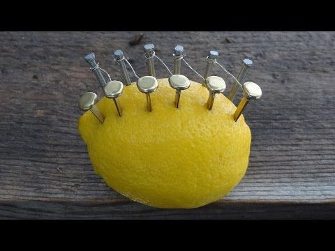 Start a Fire with a Lemon - When teaching fire building skills it can be fun to try some fire starting methods other than matches. This video shows how to start a fire with a lemon copper brads zinc nails wire and steel wool.
