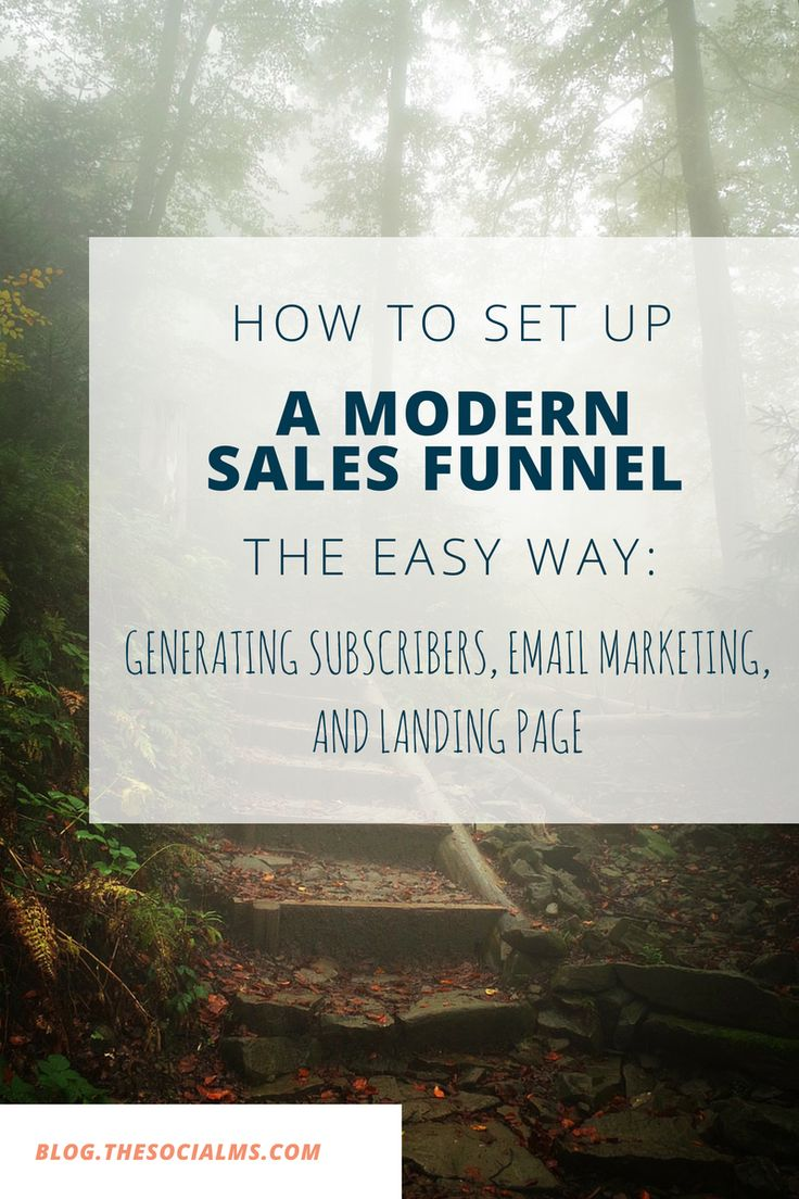 Setting Up a Modern Sales Funnel: Subscribers, Nurturing, Landing Pages