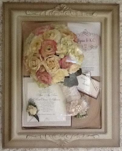 Wedding bouquet preservation... Precious petal preservation