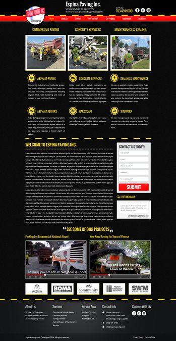 Asphalt Paving Company - Website Redesign by Delegate2Win.org
