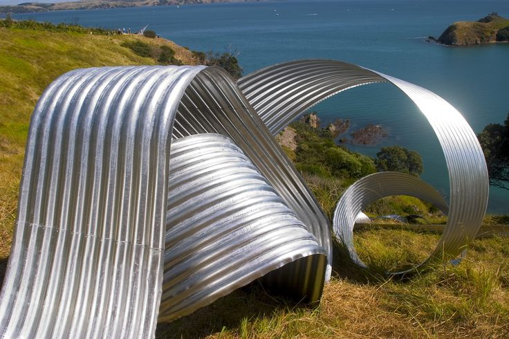 Coil at Waiheke Island, Auckland. By Jeff Thomson, from Zincalume® supplied by New Zealand Steel.