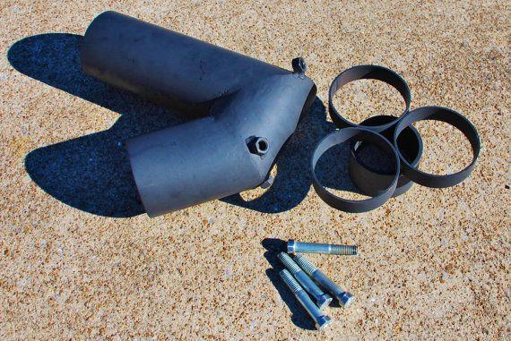 Un cerdito y un cohete con rollos de papel higinico