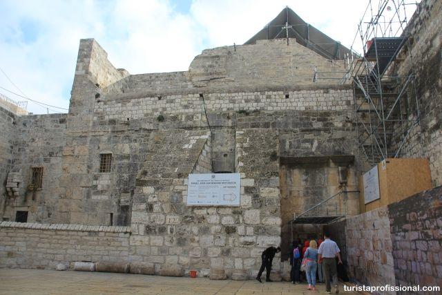Igreja da Natividade ou Basílica da Natividade, em Belém, Israel, local onde Jesus Cristo nasceu.