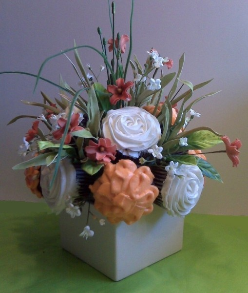 Flower Cupcake Centerpiece : Best images about cupcake centerpiece on pinterest