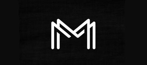 Inspiração de logos com sobreposição