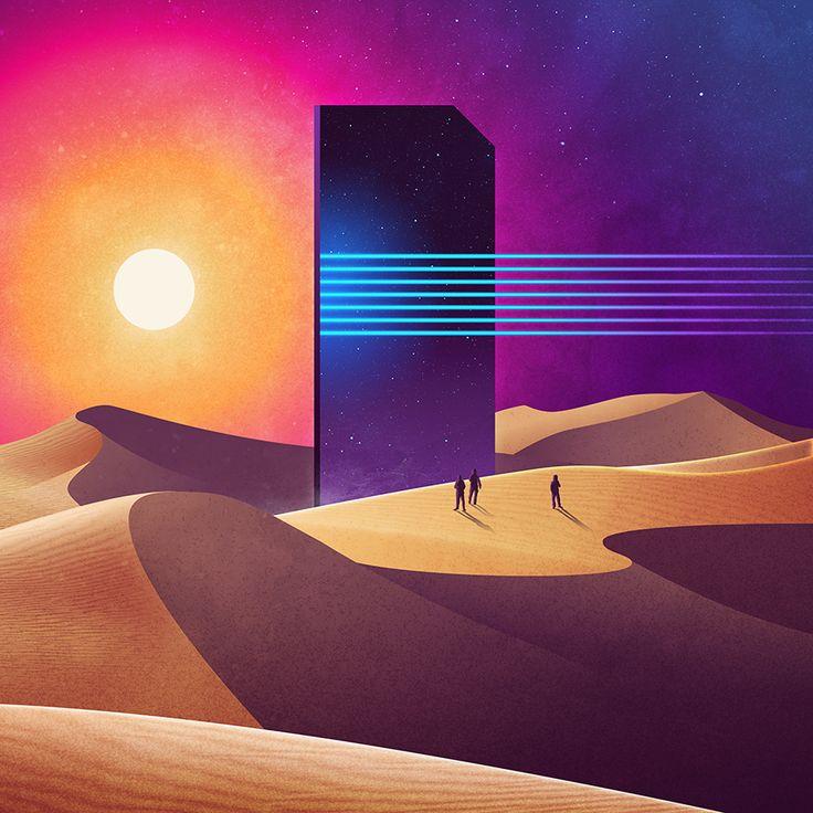 NeoWave · Paisagens abstratas e monumentos gigantes inspirados na ficção científica – Ideia Quente