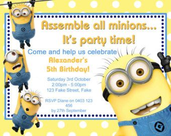 Minions Invitation Birthday Party By YourPartyPrintables