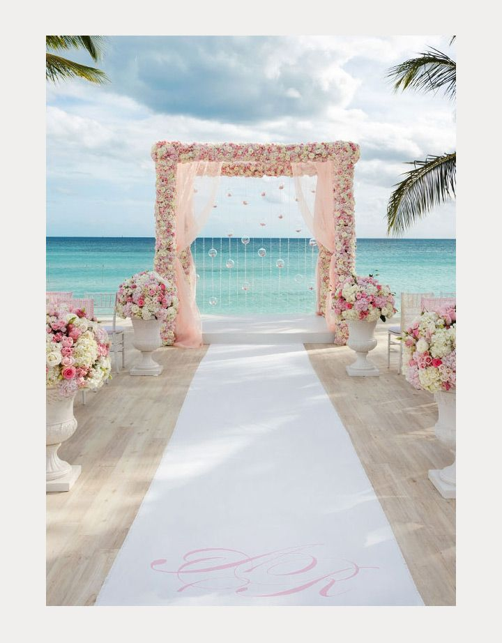 amazing pink and white floral wedding arch ~ we ❤ this! moncheribridals.com