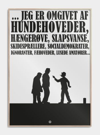 Olsen Banden plakat - Egon Olsen  www.citatplakat.dk