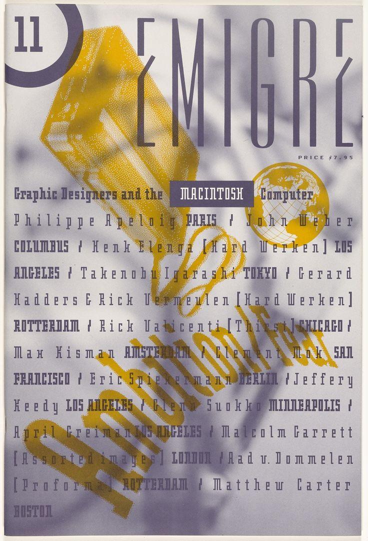 Rudy VanderLans, Zuzana Licko Emigre 11, Ambition/Fear 1989