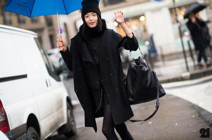 Xiao Wen Ju   Paris, Chinese model wearing all black