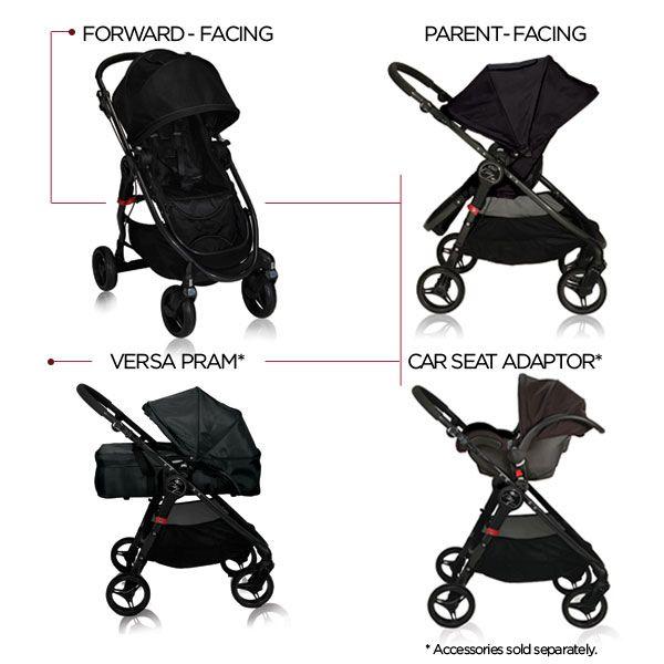 Baby Jogger City Versa Stroller - Black  $229 allbeebaby