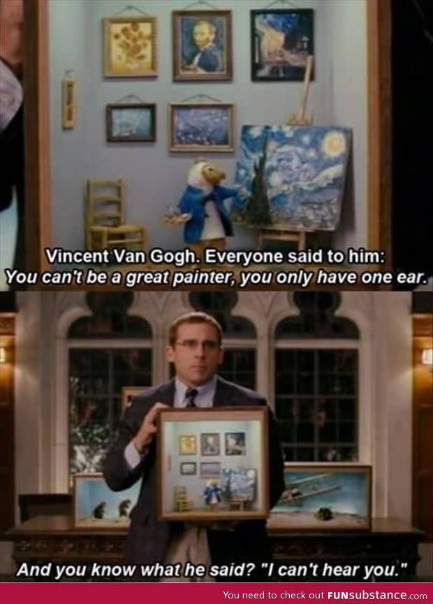 Steve Carrell on Vincent Van Gogh