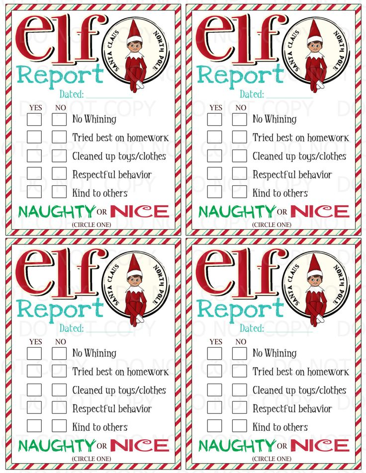 Printable Elf on the Shelf inspired Naughty or Nice Report  - Boy Elf - INSTANT DOWNLOAD by onelovedesignsllc on Etsy https://www.etsy.com/listing/213075481/printable-elf-on-the-shelf-inspired