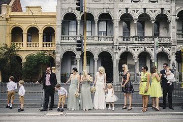 Waiting for the tram. #melbourne #jennypackham Photo from Bree & Matt collection by Andrew Hardy Photography