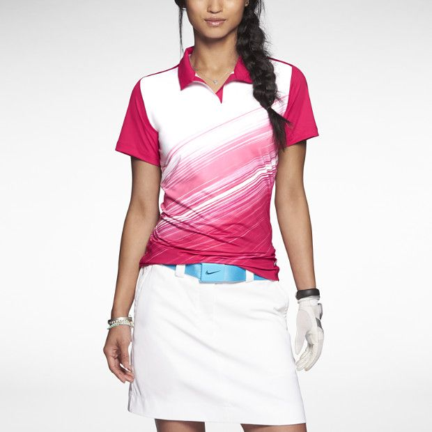 Nike Speed Stripe Mesh Women's Golf Polo Shirt - Cute and functional...doesn't matter that I don't golf. :)