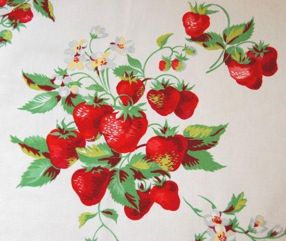 Pretty vintage tablecloth!