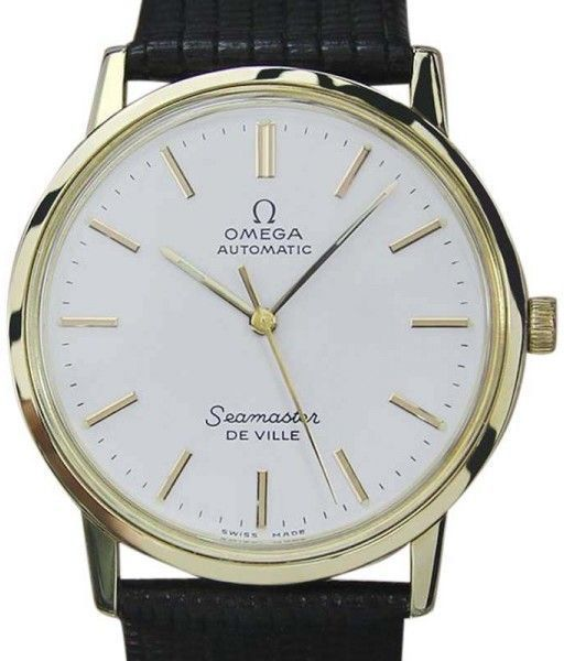 Omega Seamaster Deville Gold Capped Automatic 32.5mm Mens Watch 1970s #men'swatchesjewelry